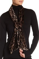 Collection XIIX Animal Print Velvet Slim Scarf