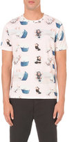 J.w. Anderson Bonzo And Cat Print Cotton T-shirt
