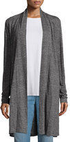 Eileen Fisher Speckle Knit Draped Long Cardigan