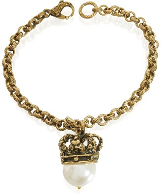 Alcozer & J Crown and Pearl Bracelet