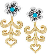 American West Sterling/Brass Turquoise Flower Earring Jackets