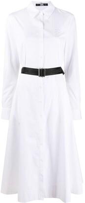 Karl Lagerfeld Paris poplin A-line shirt dress