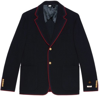 Gucci Wool cotton jersey jacket with patches
