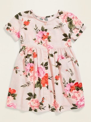 Old Navy Floral-Print Button-Front Fit & Flare Dress for Toddler Girls