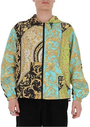 Versace Printed Zip-Up Jacket