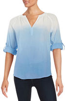 Lord & Taylor Ombre Cotton Shirt