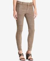 Lauren Ralph Lauren Suede Skinny Pants