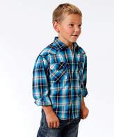 Roper Blue Mesa Plaid Button-Up - Boys
