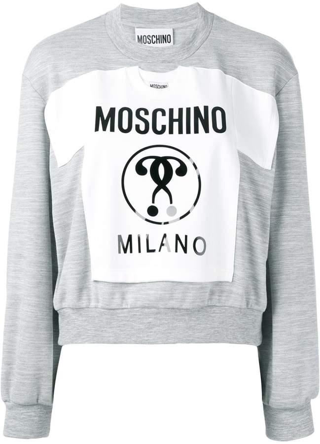 Moschino Milano patch sweatshirt
