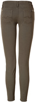 7 For All Mankind Seven The Skinny Clean Winter Drill Jeans in Olive Night