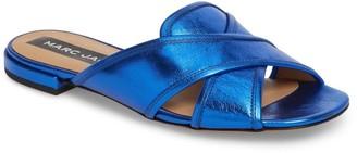 Marc Jacobs Aurora Leather Metallic Slide Sandal