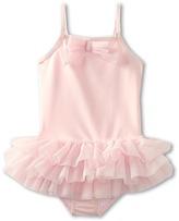 Kate Mack Ballerina Solid Tank Swimsuit (Toddler) (Pink) - Apparel