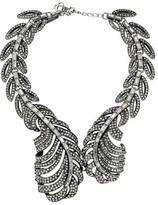 Oscar de la Renta Crystal Feather Collar Necklace