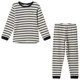 Petit Bateau Navy and White Striped Pyjamas