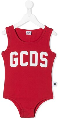 Gcds Kids Logo Print Slim-Fit Bodysuit