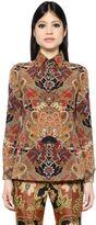 Etro Printed Silk Crepe Polo Shirt