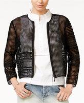 Armani Exchange Front-Zip Open-Stitched Jacket