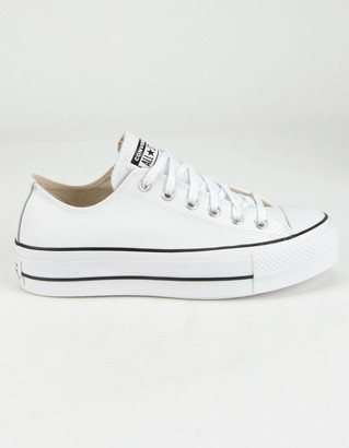 Converse Leather Chuck Taylor All Star Lift Womens Low Top Shoes