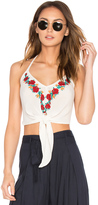 Band of Gypsies Embroidered Halter Top