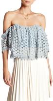 Tularosa Amelia Crochet Lace Cropped Blouse