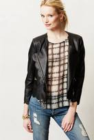 Anthropologie Scalloped Vegan Leather Jacket
