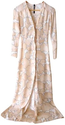 Veda Pink Silk Dress for Women