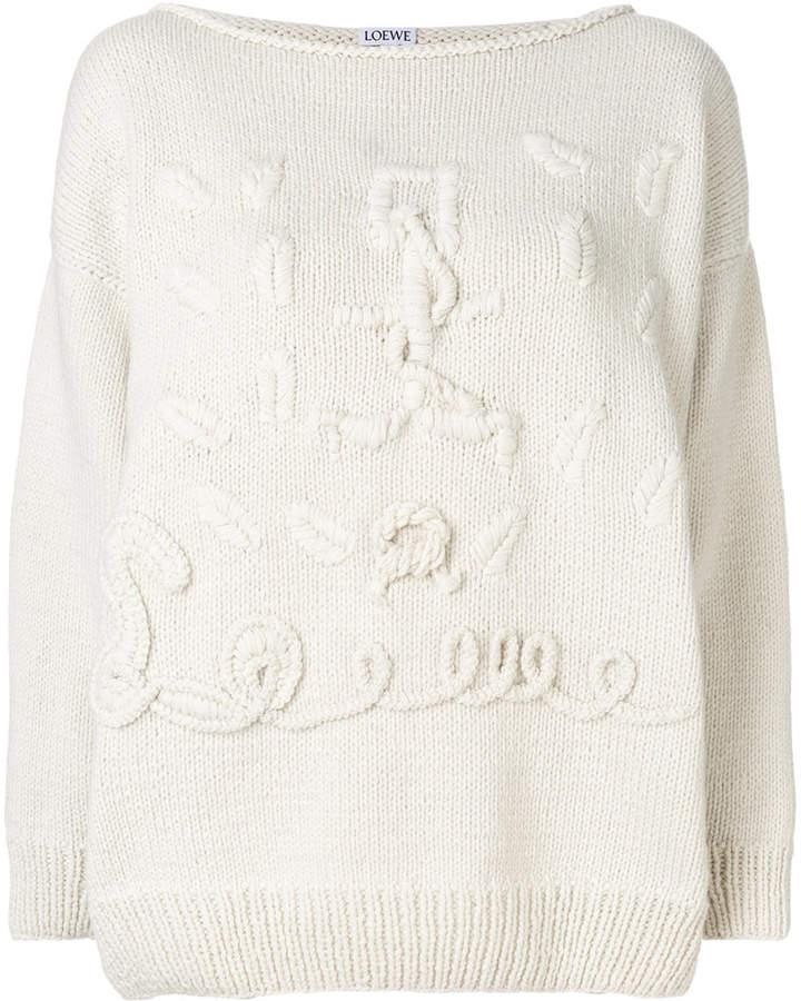 Loewe cashmere anchor motif handknitted sweater