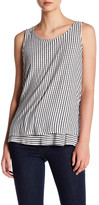 Gibson Sleeveless Double Layer Stripe Tank