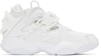 Juun.J White Reebok Edition Pump Court Sneakers