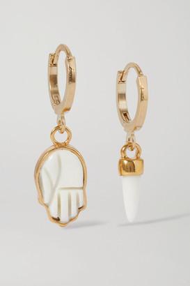Isabel Marant Gold-tone And Bone Earrings - Ivory