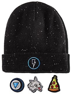 Rockets of Awesome Unisex Galaxy Speckled Patch Beanie - Little Kid, Big Kid