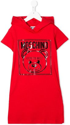 MOSCHINO BAMBINO Signature Teddybear Print Sweat Dress