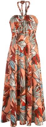 Nicholas Floral Print Halterneck Dress