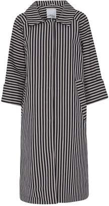 Mcverdi Striped Cotton Coat With Belt