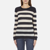 Maison Scotch Women's Striped Crew Neck Jumper Multi