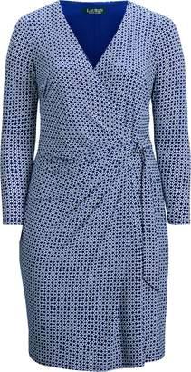Ralph Lauren Print Jersey Long-Sleeve Dress