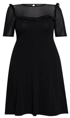 Dorothy Perkins Womens **Dp Curve Black Mesh Dress, Black