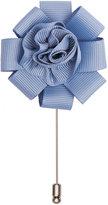 Reiss Reiss Fern - Flower Dress Pin In Blue