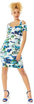 M&Co Roman Originals floral shutter pleat fitted dress