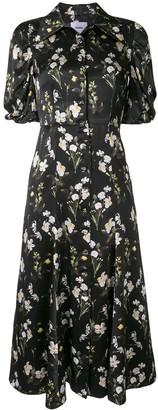Erdem Gisella daffodil-print silk dress