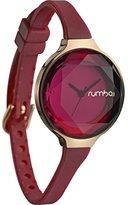 RumbaTime Women's 22711 Orchard Gem Merlot 30mm Analog Display Japanese Quartz Red Watch