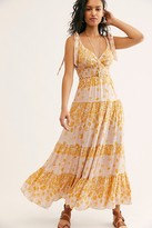 Free People Let's Smock About It Maxi Slip by Intimately at Free People, Black Combo, XS