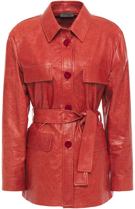 Drome Belted Leather Jacket