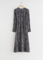Thumbnail for your product : And other stories Pleated Belted Floaty Maxi Dress