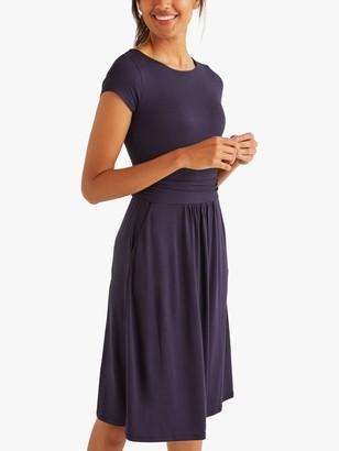 Boden Amelie Jersey Knee Length Dress, Navy