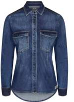 Mos Mosh - Selby Tone Denim Fitted Shirt - Large -14