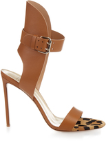 Francesco Russo Leather and calf-hair sandals