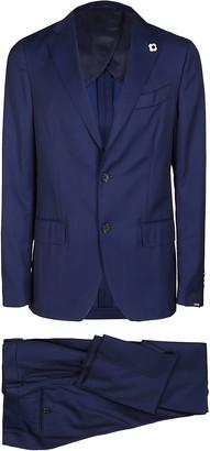 Lardini Blue Cotton Two-piece Suit