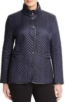 BASLER PLUS Manhattan Chevron Quilted Jacket