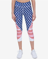 Tommy Hilfiger Stars & Stripes Cropped Active Leggings, a Macy's Exclusive Style